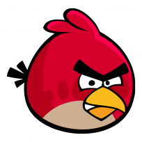 Sticker Angry Birds Red - Sticker Deco Angry Birds