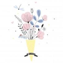 Sticker Déco Fleurs Dessinées à la Main