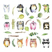 sticker mural animaux yeux
