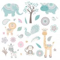 Stickers Bohème Animaux Muraux