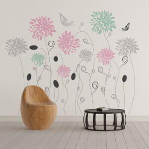 Sticker Fleur & Papillon