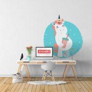 Sticker Deco Mauvaise Licorne Junk Food