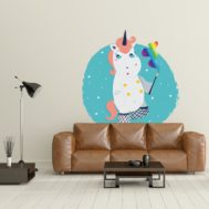 Stickers Licorne Mauvaise Striptease