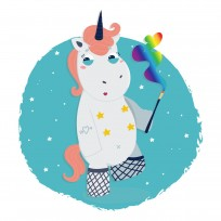 Sticker Deco Mauvaise Licorne Striptease