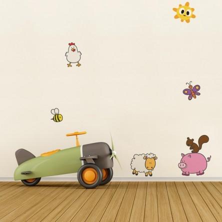 Sticker Deco Animaux Ferme Chambre Enfant