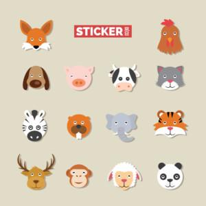 Sticker Deco Animaux Funky