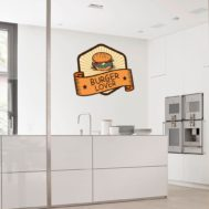 Sticker Deco Burger Lover Cuisine