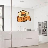 Sticker Deco Burger Lover Cuisine