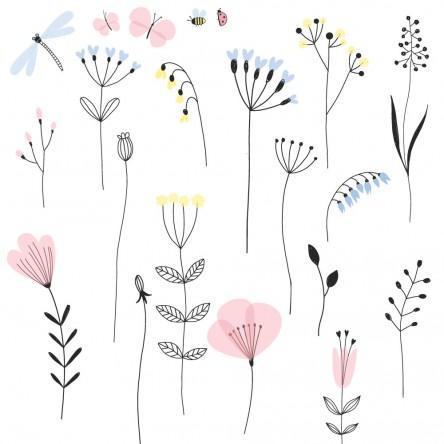 Sticker Deco Compo Floral Cuisine