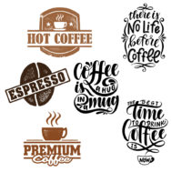 Sticker Deco Coffee Cuisine