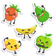 Sticker Deco fete du fruit cuisine