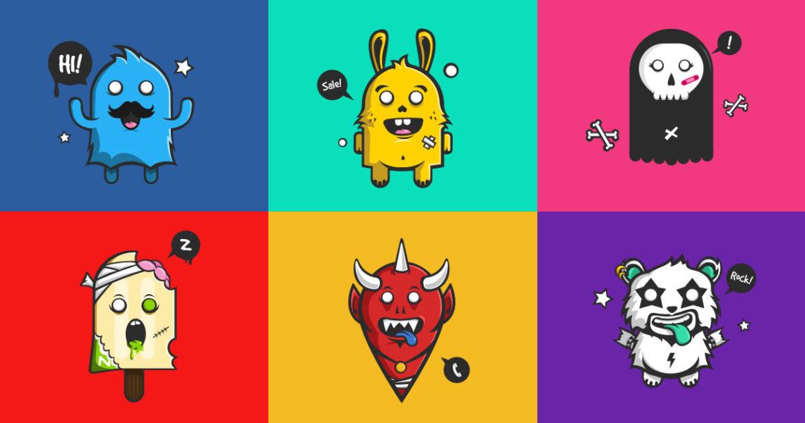 Sticker Deco Monstres Mignons