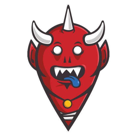 Sticker Deco Monstre Mignon Demon