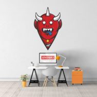 Sticker Deco Monstre Mignon Demon