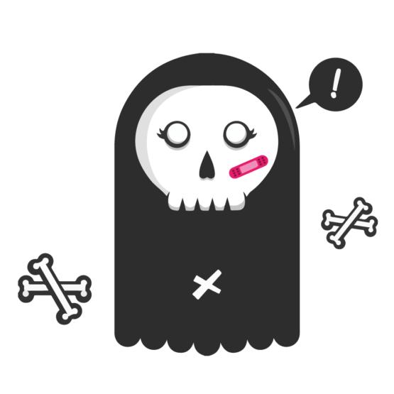 Sticker Deco Monstre Mignon Fantomette