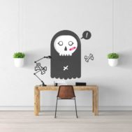 Sticker Deco Monstre Mignon Fantomette