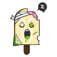 Sticker Deco Monstre Mignon Glace Zombie