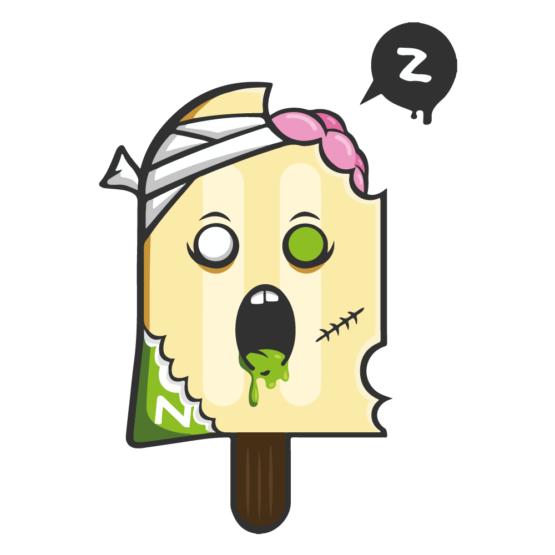 Sticker Deco Monstre Mignon Glace Zombie