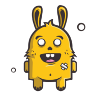 Sticker Lapin Monstre Mignon