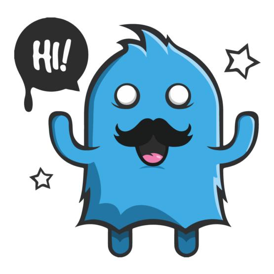 Sticker Deco Monstre Mignon Moustache