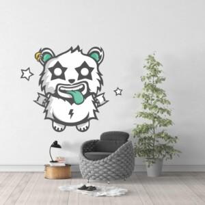 Sticker Deco Monstre Mignon Panda Rock