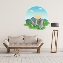 Sticker Ile de Paques Mural