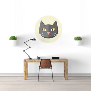 Sticker Mural Chat Badge
