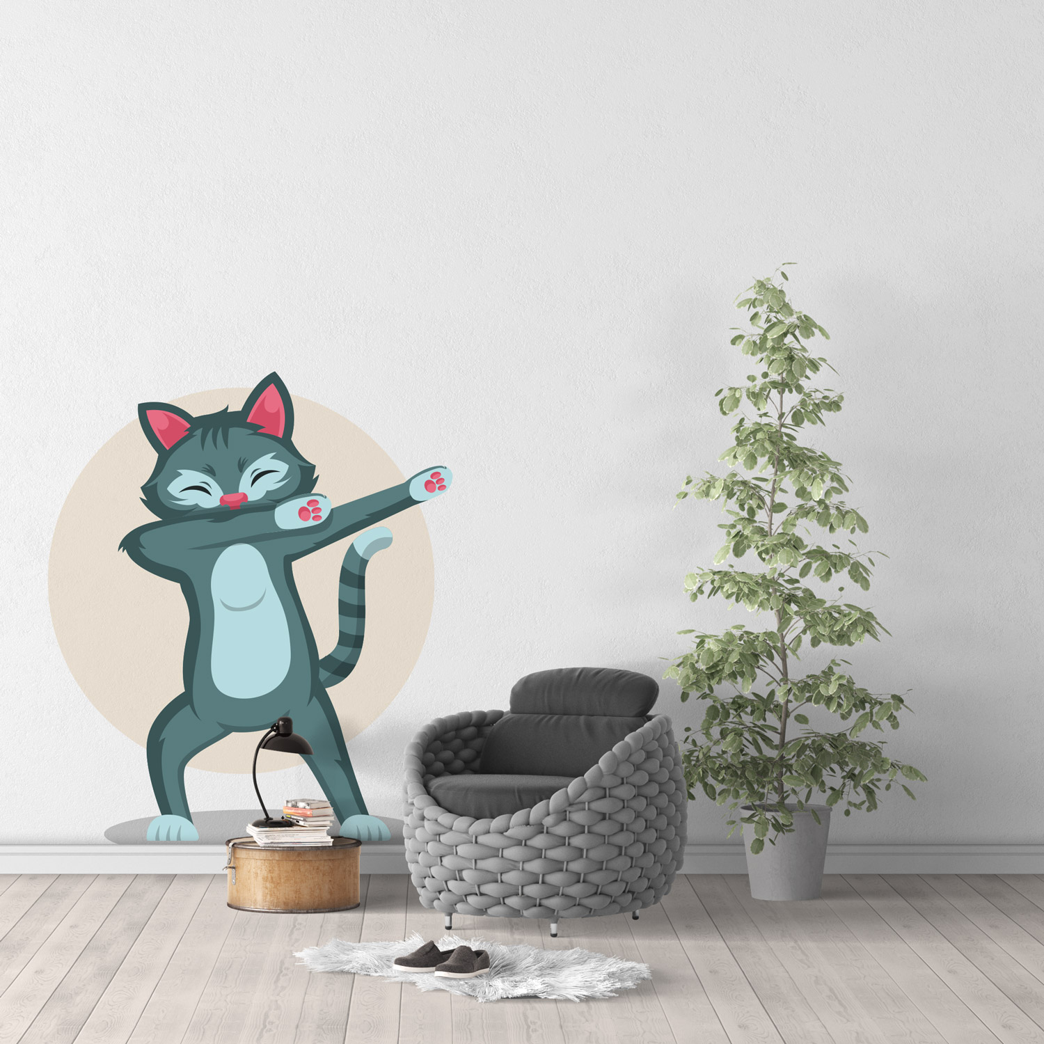 Sticker Mural Chat Dab 02
