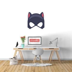 Sticker Mural Chat Masqué