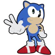 Sticker Mural Classic Sonic
