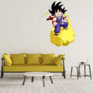 Sticker Mural Goku Kid Nuage