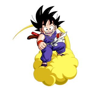 Sticker Mural Goku Kid Nuage