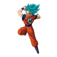 Sticker Mural Goku ssjblue
