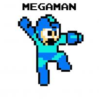 Sticker Mural Megaman Pixel