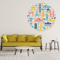 Sticker Mural Monuments Rond