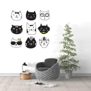 Sticker Mural Neuf Chat