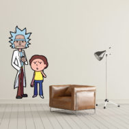Sticker Mural Rick and Morty 04