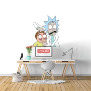 Sticker Mural Rick and Morty
