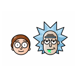 Sticker Mural Rick and Morty Icones