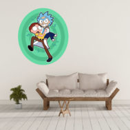 Sticker Mural Rick and Morty Portail