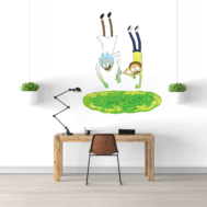 Sticker Mural Rick and Morty Portail 02