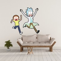 Sticker Mural Rick and Morty Run