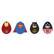 Sticker Mural Super Hero Egg