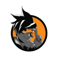 Sticker Mural Tracer Overwatch 01