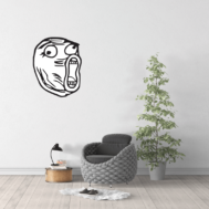 Sticker Mural Troll Face 02