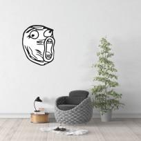 Sticker Mural Troll Face 02