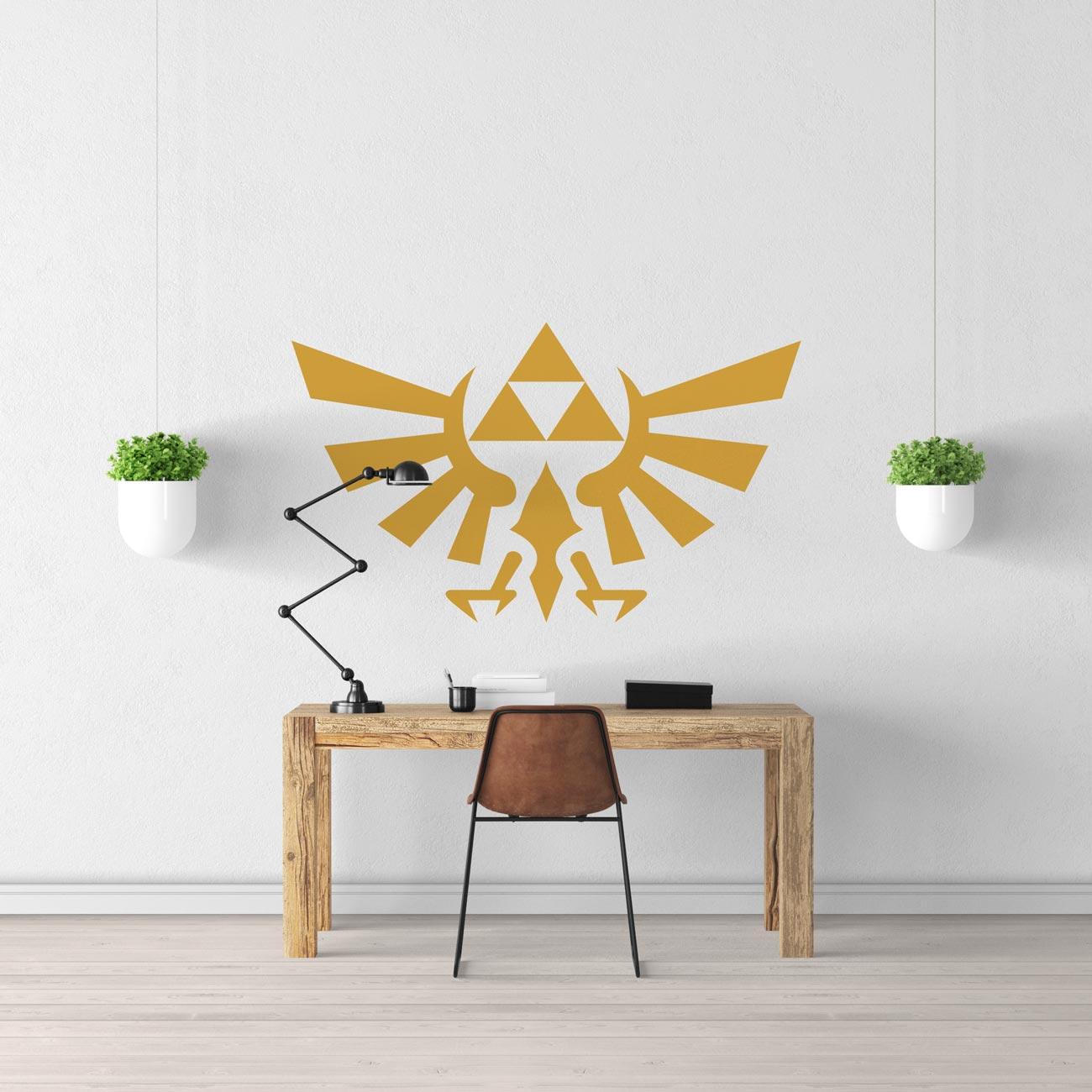 Sticker Zelda Hyrule Logo - Sticker Mural Zelda  Stickerdeco.fr