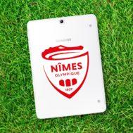 Sticker Nîmes Olympique 2018 pour Tablette