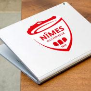 Sticker Nîmes Olympique Ordinateur Portable
