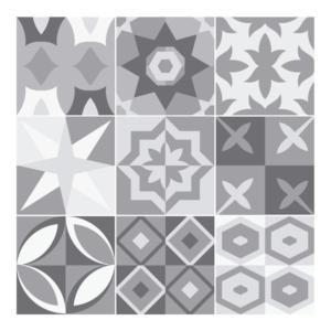 Stickers Carreaux de Ciment Gris